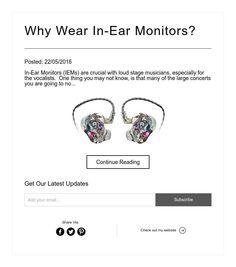 Why Wear In-Ear Monitors?