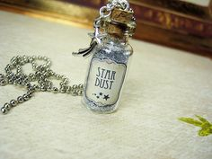 Stardust 2ml Glass Bottle Necklace Star Dust Cork by RedQueenMisc