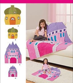 Simplicity Patterns Us8033Os-Simplicity Rag Quilts And Matching Doll Rag Quilts-One Size