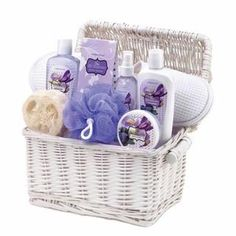 Iris Blueberry Spa Gift Basket. This gorgeous spa basket is a great gift for anyone, including yourself! Indulge in the sweet scent of Iris Blueberry as you pamper your way to smooth, soothed skin.
