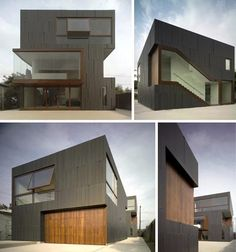 The Mush Residence by Studio 010 is a combination modern live, work and gallery space designed for artists in Los Angeles. Architecture Artists, Space Architecture, Contemporary Architecture, Creative Architecture, Residential Architecture, Space Gallery, Exhibition Space, Facade House, Beautiful Buildings