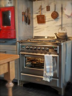"G Bakes! newest addition to the family - ILVE Majestic 36"" Range in Stainless Steel with Bronze trim"