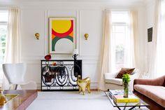 Playful details in an elegant living room