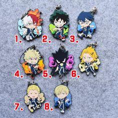 My Hero Academia Anime Boku no Hero Academia Midoriya Bakugou Katsuki Eijiro SHOTO Denki Tenya Fumikage Japanese Rubber Keychain
