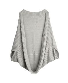 Batwing-sleeves Open-front Loose Cape Cardigan | BlackFive