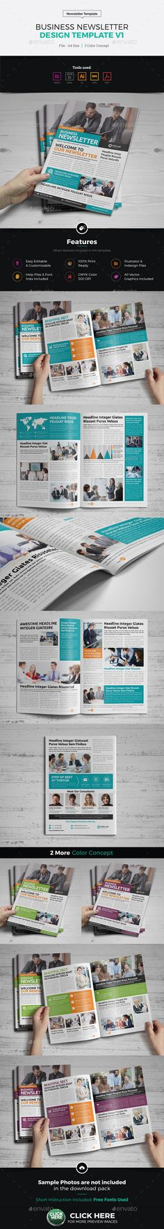 Newspaper Template Texts Brochures And Layout