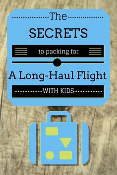 While flying with kids does present some challenges, a great packing list and a good attitude can go a long way.  Here are our top things to pack in your carry-on luggage for a long haul flight with children.  34 Great Packing Tips for a Long Haul Flight with Kids