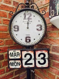 Large Vintage, Industrial retro tall station clock in unique style for antique homes and offices and hotel lobby Call Smithers of Stamford 01780 435060 Stamford, Hotel Lobby, Wall Clocks, Paris, Retro, Antiques, Shopping, Vintage, Home Decor