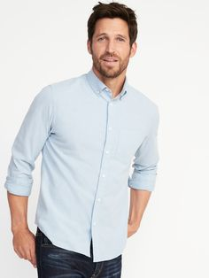70950835195 Regular-Fit Clean-Slate Everyday Oxford Shirt for Men