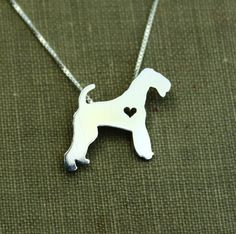 Air Dale Terrier necklace sterling silver tiny by justplainsimple, $40.00 (not available in time for xmas)