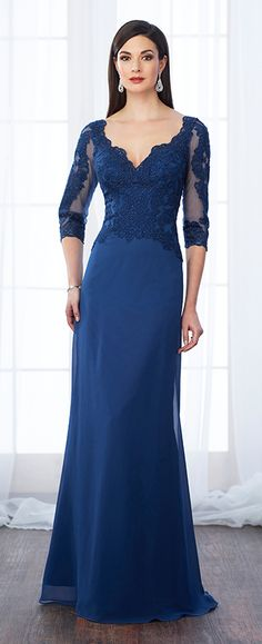 Sleeveless hand-beaded lace and chiffon slim A-line gown with wide front and 246ad4a785