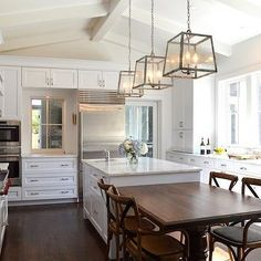 Seeded Glass Lanterns, Transitional, kitchen, Either Orr