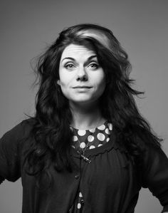 "Caitlin Moran, photo by Chris Floyd. I am LOVING her book ""How to Be a Woman."" It's pretty much perfect."