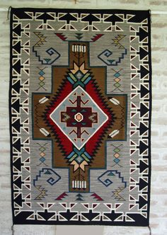 All Navajo rugs are an inspiration to me I simply can not get enough of them Teec Nos Pos Navajo Rug : Churro 1452