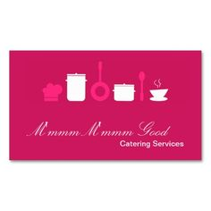 Hot Pink Culinary Food Catering Business Card