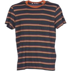 1960s Casuals Striped T Shirt ($77) ❤ liked on Polyvore featuring men's fashion, men's clothing, men's shirts, men's t-shirts, tops, clothing - ss tops, multicolor, mens cotton t shirts, mens stripe shirts and mens green striped shirt