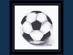 Soccer Ball Art Print // Sports Bedroom Art // by mElleStudio, $30.00