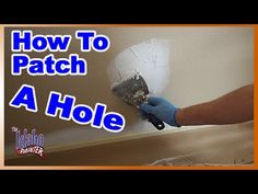 How to patch a hole in a wall. How to patch holes in drywall. DIY sheetrock and drywall repair tips. Patching a large hole in sheetrock or . How To Patch Drywall, Drywall Repair, Fix Hole In Wall, Home Repair, Painting Tips, Home Renovation, Diy Wall, Paint Colors, Home Improvement