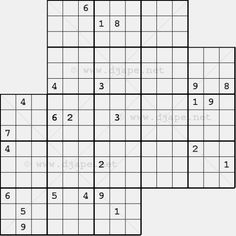 Diagonal Sudoku 3 in 1: Triple X  Sudoku puzzle