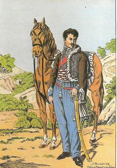 French; 2nd Hussars, Le Lieutenant John de Rocca, Tenue de Campagne, Spain, 1811