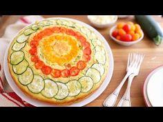 TORTA SALATA SOFFICE ZUCCHINE, ASIAGO E POMODORINI | RICETTA FACILISSIMA E VELOCE - YouTube