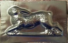 Vintage Metal Chocolate Candy Mold Running Old World Rabbit hare Chocolate Candy Molds, Vintage Easter, Country Primitive, Vintage Metal, Old World, Cookie Cutters, Folk Art, Unique Jewelry, Hare