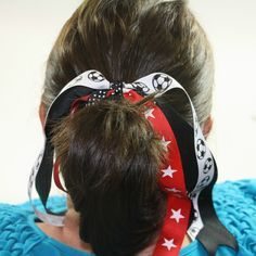 With summer coming, lots of kids, including girls, will be playing a lot of different sports. So, I thought it would be fun to show you how to make these pony-o holders for ponytails since we like to have our hair up during sports, right? Plus, this is a really great project for using up a bunch of