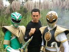 Tommy Oliver (Green then White Power Ranger) = actor Jason David Frank Power Rangers Zeo, First Power Rangers, Pawer Rangers, Mighty Morphin Power Rangers, Jason David Frank, Original Power Rangers Cast, Power Rangers Originales, Ranger Verde, Ranger
