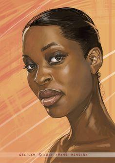 Portrait of a Muse by FransMensinkArtist on @DeviantArt