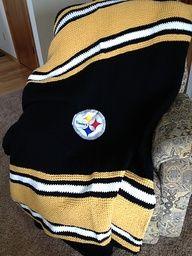 Loom Knit Steelers Blanket