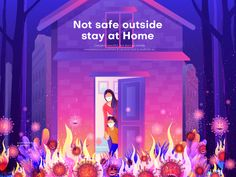 Stay at Home (Vector illustration) Outside is beautiful but don't go outside corona virus is everywhere. It can even lead to death for us. Please stay at home. 0 views 58 likes 3 saves United Way, Saint Charles, Stay At Home, Show And Tell, Go Outside, Illustrations Posters, Home Art, Illustration Art, People Illustration