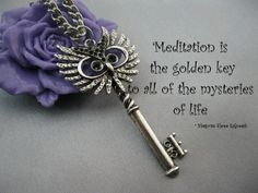 Love this owl key! Buddha, Meditation, Golden Key, Get Closer To God, Key To Happiness, Key Necklace, Love And Light, How To Stay Healthy, Red Roses