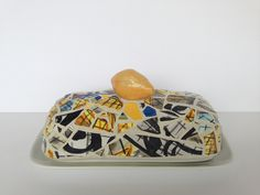 hip hop lemon butter dish by butterbiskit on Etsy