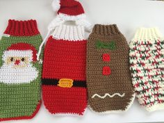 All sweaters shown are in small. This listing is for a Christmas Sweater without a hat, if youd like a Christmas Sweater with a hat use this listing: https://www.etsy.com/listing/475607794/holiday-crochet-dog-sweater-with-hat  Dog Sweaters are the perfect option for dogs in a colder climate! How do you want your sweater? These Sweaters are designed with holidays in mind! Dog Sweaters come in sizes Small, Medium, and Large. Choose a size and include in your notes which style youd like and…