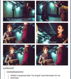 No wonder she was so surprised and shocked and speechless and glad to see him! Now I'm a sobbing mess, CURSE YOU MOFFAT!