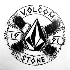 Fun sticker design I drew for Volcom a while ago. #jamiebrowneart #tbt #volcom #volcom_oz #skateboards #stone #banners #sticker #slapitup #brokendreams #focussed #boards #hesh #shred #skate #stoned #since91 #truetothis #illustration #skateorcry #jb