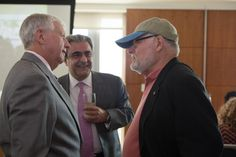 Jack Siggins with President Emeritus Stephen Joel Trachtenburg.