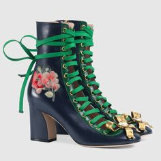 Gucci Finnlay leather ankle boot - rocking a bit of modern Victorian