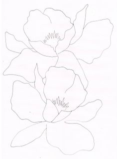 Creative Doodling with Judy West: Outlines to Copy Outline Art, Outline Drawings, Art Drawings, Nature Illustration, Botanical Illustration, Fabric Painting, Painting Prints, Watercolor Pencils Techniques, Flower Drawing Tutorials