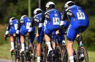 The Etixx-QuickStep team riding to win