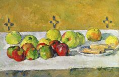 Paul Cézanne - Apples and Biscuits, c.1877