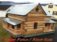 Replica of a friends cabin by Hokie Man