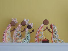 "9"" Nativity Set Cedar Wood Nicaragua | eBay"