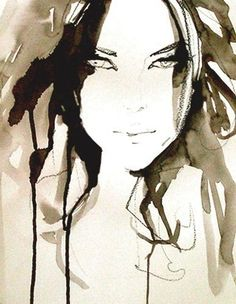 watercolor, charcoal