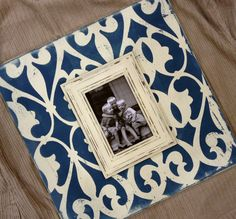 Distressed Hand Painted Magnetic Wall Art Frame 4 by MemoryScapes, $55.00