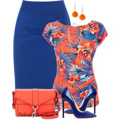 """""""Orange & Blue"""" by oribeauty-cosmeticos on Polyvore"""