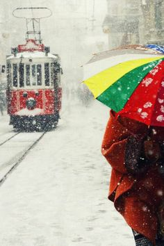 #winter #snow trolley