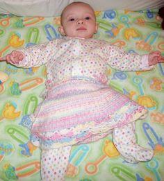 Baby Skirt Knitting Pattern With Crochet Trim