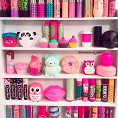 Instagram photo by Makeup Enthusiast💄 • Dec 13, 2015 at 9:25 AM Storage Ideas, Lip Balm, Lip Gloss, Glow, Make Up, Organization, Instagram Posts, Beauty, Fashion