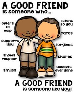 Friend Poster [someone who] by Kaitlynn Albani Social Skills Lessons, Social Skills For Kids, Life Skills, Classroom Rules, Classroom Behavior, Kids Behavior, Classroom Management, Character Education, Kids Education